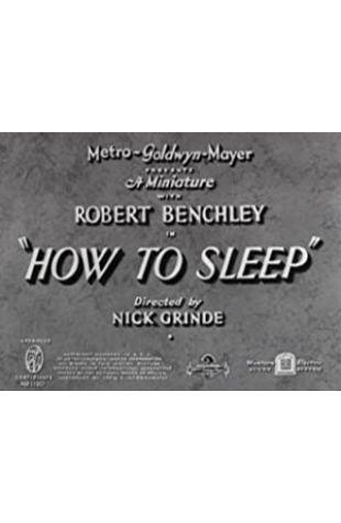 How to Sleep Jack Chertok